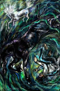 The Boy and the Kelpie by iscalox