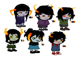 All my troll babies by xXPastelPaperXx