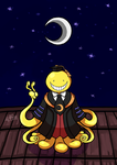 Korosensei and the Moon by HirokoTheHedgehog