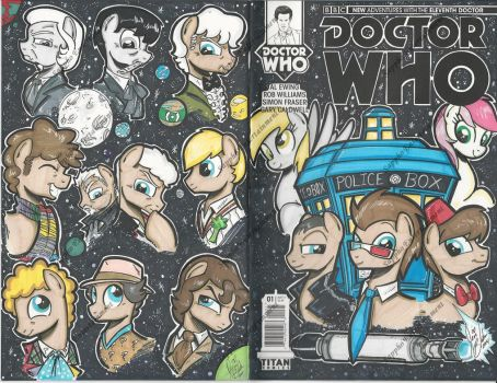 Dr Who(oves) Wizard World Chicago Sketch Cover2 by PonyGoddess