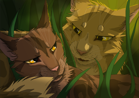 Mothwing x Leafpool by BowtieMySoul