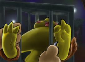 Pikachu in a Cage by ReallyReallyBigBang