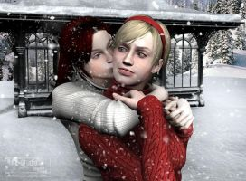 Kiss in the Snow by sHoNi89