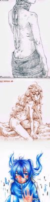 Kagerou Project: Sketches - Shintaro - Mary - Ene by HiddenService
