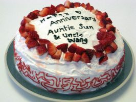 Anniversary Cake Side View by dancingpiggy48