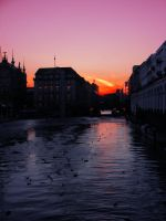 river in sunset by rockmylife