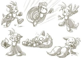Tails sketches by glitcher