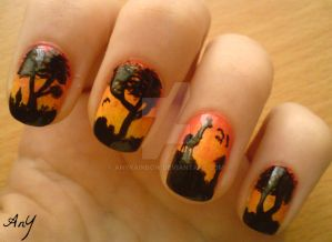 Africa Nail Design by AnyRainbow
