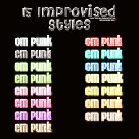 15 improvised styles. by SmartAndPowerful