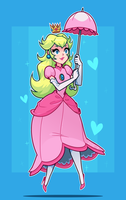 Princess Peach by ZoeStanleyArts