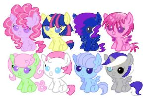 Twipie Shipping Foal Adopts- Name your Price by PrincessEbet