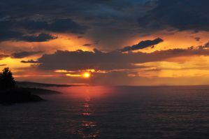 Sunrise over Superior by KrystalTrinity