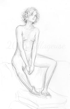 nude drawing class. pose 05 by Sillageuse