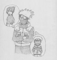 Kakashi and his minions by frailhearts9
