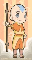 Chibi Aang by suzannedcapleton