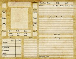 Pathfinder Character Sheet by ElderAutumnMoon