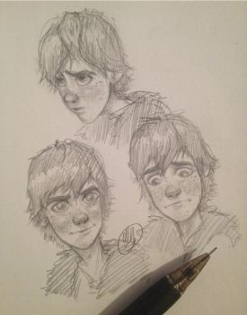 More Hiccup Sketches by rainbowwndw