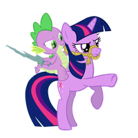 Spike Rides Twi Like A Boss (Updated) by CrimsonMatt52
