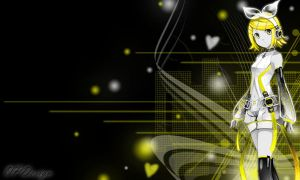Kagamine Rin Background by OPDesign