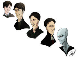 Tom Riddle over the Years by sevenluck