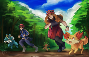 Pokemon X and Y by iZince