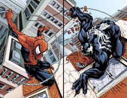Spider-Man Vs. Venom Print Set by DaveComics
