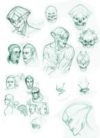 Mass Effect sketches by akatonbokinmokusei