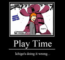 Ichigo's Play Time by KuroyamiNamida