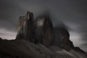Tre Cime at Moonlight by RobertoBertero