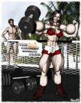 Muscle Beach Lin by Stone3D by vince3