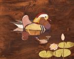 Mandarin Duck - Wood Art by amazoncanvas