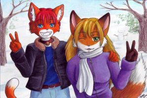 Tabby and Nikki - by Wolfdog by TimidTabby84