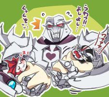 tfp: Daddy Megatron by c0ralus