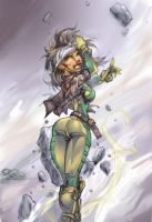Xmen Rogue color by JustArt27