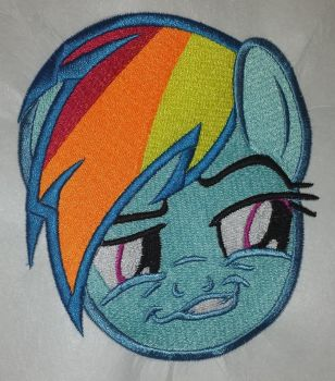 Grinning Rainbow Dash Embroidered Patch by Spaceguy5