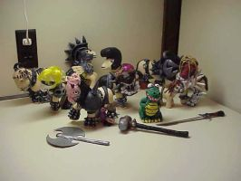 GWAR ponies custom set by Woosie