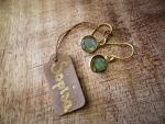 Gold Plated Silver Earrings With Labradorites by Sopisa-jewelry