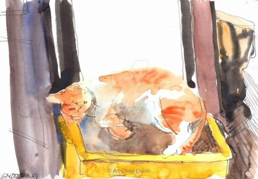 #388 - Snoozing by Art-Chap-Enjoin
