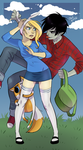 Fionna, Cake and Marshall Lee by JackLotus