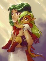 Fatin and mom by KatiraMoon