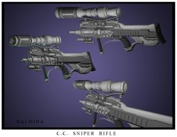 C.C. Sniper Rifle by malmida