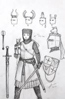 13th CE Medieval German Woman Warrior Concept by Gambargin