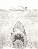 My Jaws Practice Sketch - Roger Kastel by smjblessing