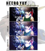 Heero Yuy - Gundam Wing [Collaboration] by HarmoniaFreak