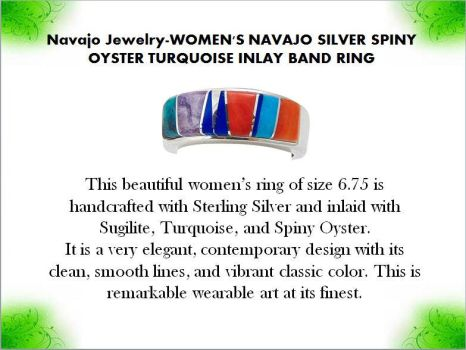 Navajo Jewelry-WOMEN'S NAVAJO SILVER SPINY OYSTER  by mesaverde1