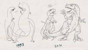 Dinosaurs of the Ages by lord-phillock