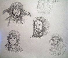 The Hobbit: more character sketches by AerinTook