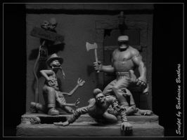 The Goon Diorama by BarbarianFanSculpt