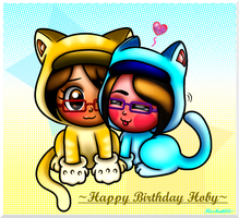 .::Happy Birthday Hoby-Kitty Friendship::. by Misskatt66