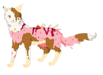 Neapolitan Ice-cream Adoptable (CLOSED) by Kamrycookie